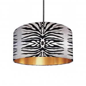 Zebra Mirage Gold Lined Lampshade