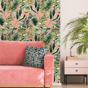 Blush Tropics Wallpaper