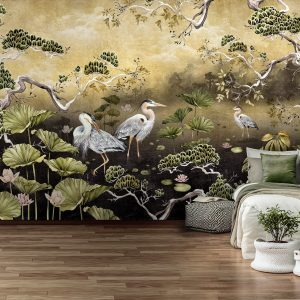 Golden Orient Wall Mural