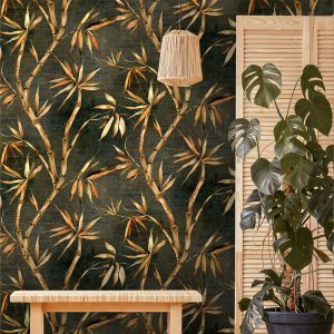 Forest Green Bamboo Wallpaper