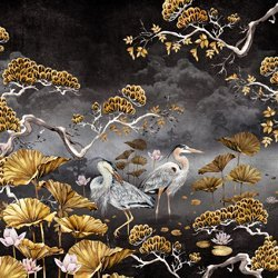 Black & Gold Orient Wall Mural
