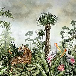 Caspian Jungle Daybreak Wall Mural