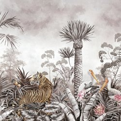 Caspian Jungle Morning Mist Wall Mural