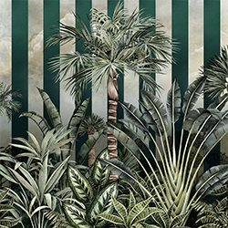 Rainforest Stripe Wall Mural