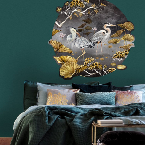 Black & Gold Orient Wall Decal