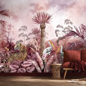 Mulberry Tigress Wall Mural